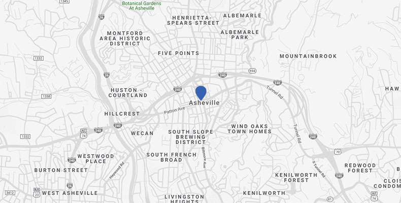 Downtown Asheville Maps + Directions | Kimpton Hotel Arras on big south map, sun belt map, conference usa map, c-usa map, mountain west map,